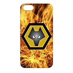 Wolverhampton Wanderers FC Phone Case Classical Vintage 3D Phone Case for Iphone 4/4s with Wolverhampton Wanderers FC Logo