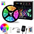 Led Strip Lights L8star 16 4ft Rgb 5050 Leds Color Changing Kit 24key Remote Control And Power Supply With Bluetooth Smartphone App Controller For Home Kitchen Christmas Indoor Decoration
