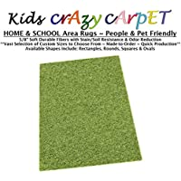 7x9 - Gremlin Green ~ Kids Crazy Carpet Home & School Area Rugs   People & Pet Friendly – R2X Stain Resistance & Odor Reduction
