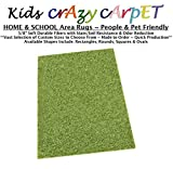 4'x6' - Gremlin Green ~ Kids Crazy Carpet Home & School Area Rugs | People & Pet Friendly – R2X Stain Resistance & Odor Reduction