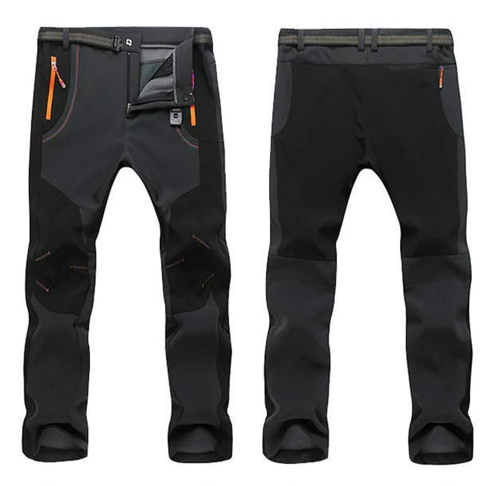 ... Suave A Prueba de Viento Montañismo Pantalones de esquí al Aire Libre Impermeable Negro Cazadora para Hombres Ligero: Amazon.es: Ropa y accesorios
