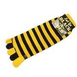 Black N Gold Toe Socks