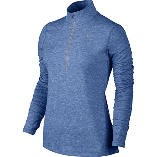 Zip azul de para star Nike larga blue Element manga htr platinum Half Top mujer pure EpxHqC
