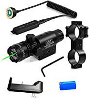 Wenxy Green/Red Laser Sight System High Powered Tactical Green/Red Laser with Picatinny Rail Mount Barrel Moun