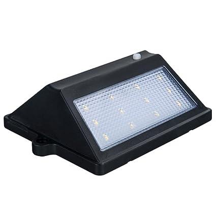 ZX 12led LED Solar Panel de luz Nocturna PIR Sensor de Movimiento Nightlight IP65 Lámpara de