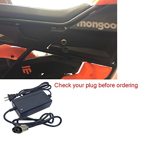 24V Charger for 2016 & up Mongoose Mini Dirt Bike Motorcycle by Pure Power Adapters - Mongoose Bikes Parts
