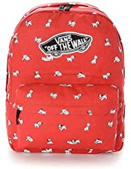 VANS - Vans Womens Backpack - Dalmation - Red - One Size