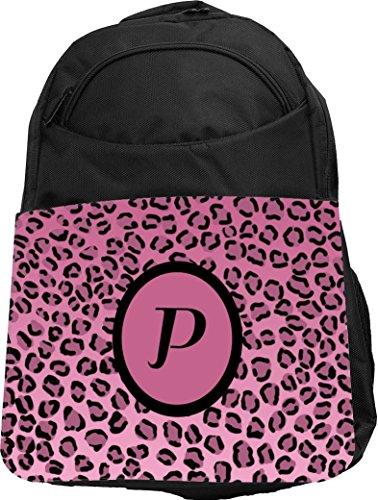 "Rikki Knight UKBK Letter ""P"" Light Pink Leopard Print Mon..."