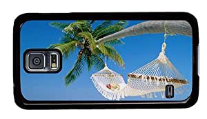 Hipster design Samsung Galaxy S5 Case hammock on palm PC Black for Samsung S5