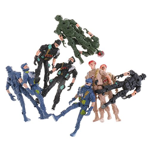 - MonkeyJack 10pcs Plastic Army Playset 9cm Soldier Army Men Action Figures Collectibles Gift