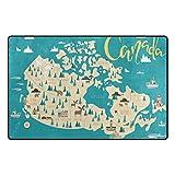 Vantaso Soft Foam Nursery Area Rugs Canada Map 60x39 inch Play Mats for Kids Playing Room Living Room Door Mat