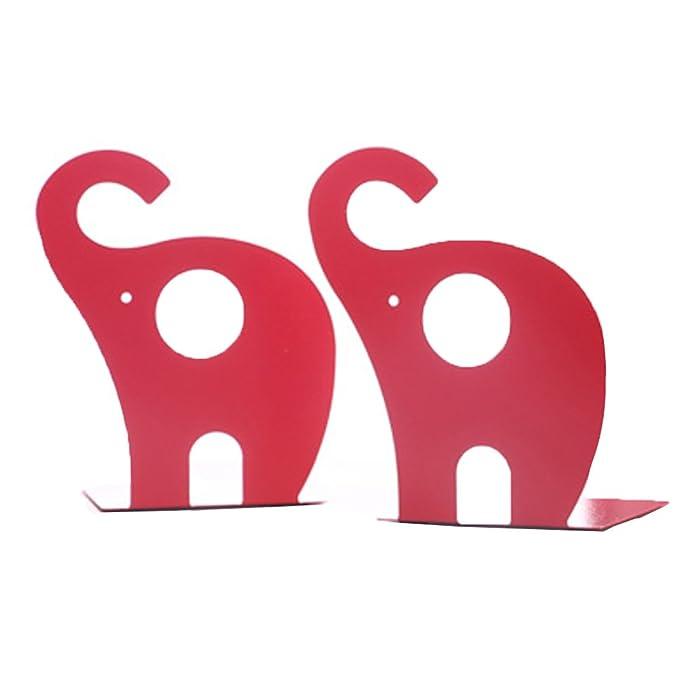 1 opinioni per Super44day 2 Pezzi Elefante Animali Reggilibri Fermalibri Metallo Titolare Libro