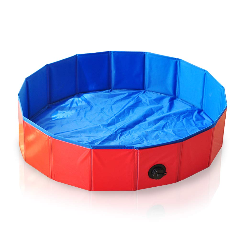 8020cm JWD Foldable Pet Dogs Cats Paddling Pool Puppy Swimming Bathing Tub Water Pond