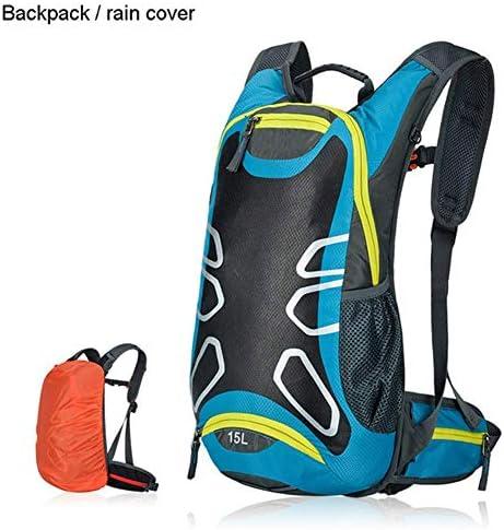 BAJIMI アウトドアハイキングキャンプ旅行自転車バッグショルダー超軽量スポーツ乗馬水分補給18Lバイクバッグ/ブルーのためのバックパック