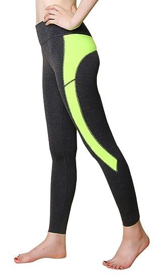 ... Sport Slim Elastique - Taille Haute - Resirant Séchage Rapide et  Exception Transpiration - Couleur de Bonbon-Vert-L  Amazon.fr  Vêtements et  accessoires 1ab3ea6e69a