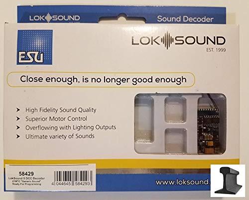 ESU 58429 LokSound V5.0 DCC 21 MTC Pin Sound Blank Decoder NEM6660 ~ Ready for Programming ()