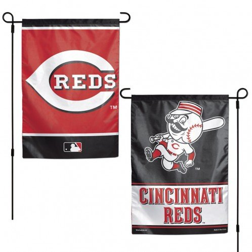 Cincinnati Reds Flag 12x18 Garden Style 2 Sided ()
