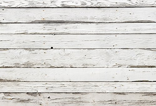 Yeele Wood Floor Backdrops 9x6ft /2.7 X 1.8M Light White Weathered Horizontal Stripes Wooden Board Adult Artistic Portrait Photoshoot Props Photography Background