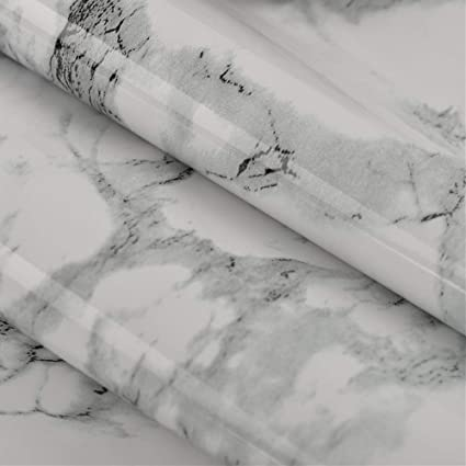 Marble Paper 197 X 24 Self Adhesive Wallpaper Waterproof Pvc Wall Stickers For Kitchen Bathroom Countertop Cabinets Furniture Cover