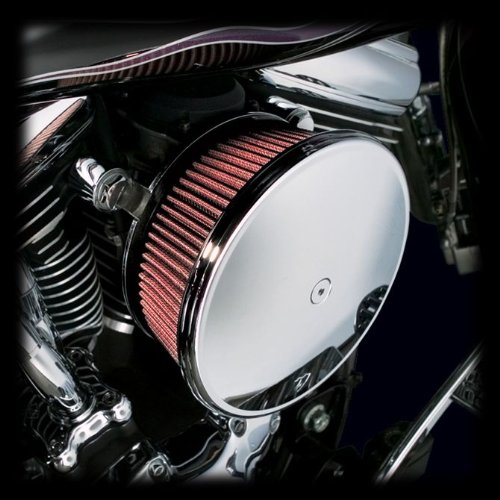 Arlen Ness 18-783 Big Sucker Stage 2 Air Cleaner Kit with Chrome Backing Plate for 1988-Newer Harley XL Sportster Models