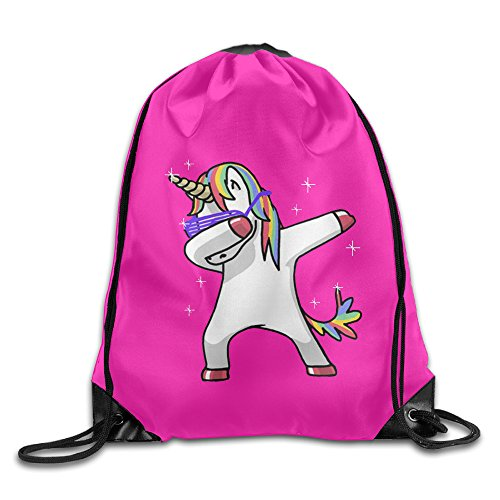 MCWO GRAY Dabbing Unicorn Hip Hop Drawstring Bag Backpack Draw Cord Bag Sackpack Sport Bag Gym Bag Large Lightweight Gym For Men And Women Hiking Swimming Yoga by MCWO GRAY