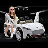 Maserati Style 12V Kids Ride On Car Battery Powered Wheels Remote Control White