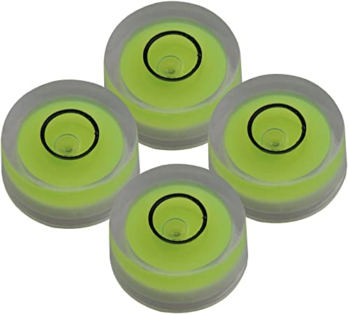 Yibuy Wasserwaagen Libelle Grün 12 X 6 Mm Runder Neigungsmesser Zum Ausrichten Von Oberflächen 4 Stück Musikinstrumente