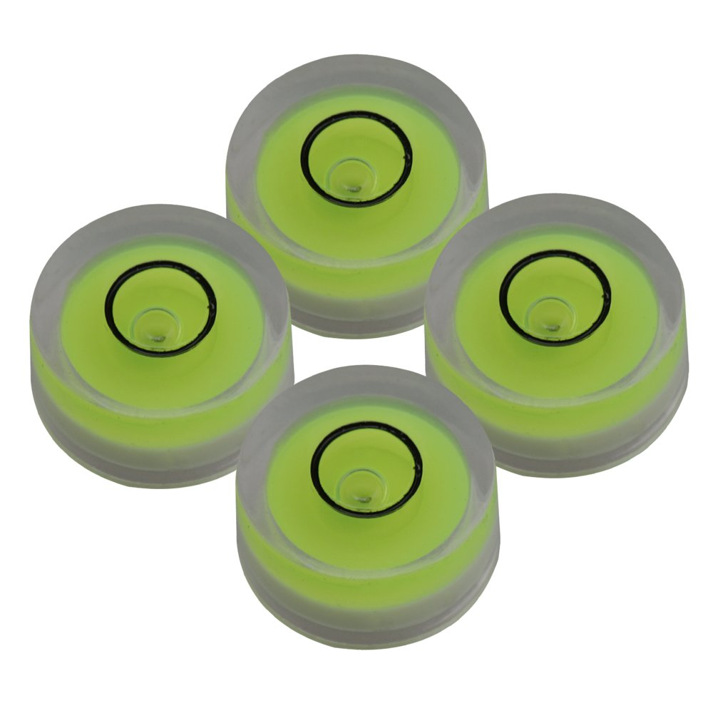 Yibuy 12x6mm Green Spirit Bubble Level Turntable Surface Leveler Measuring Tool Round Inclinometers Pack of 4 etfshop M7180410006