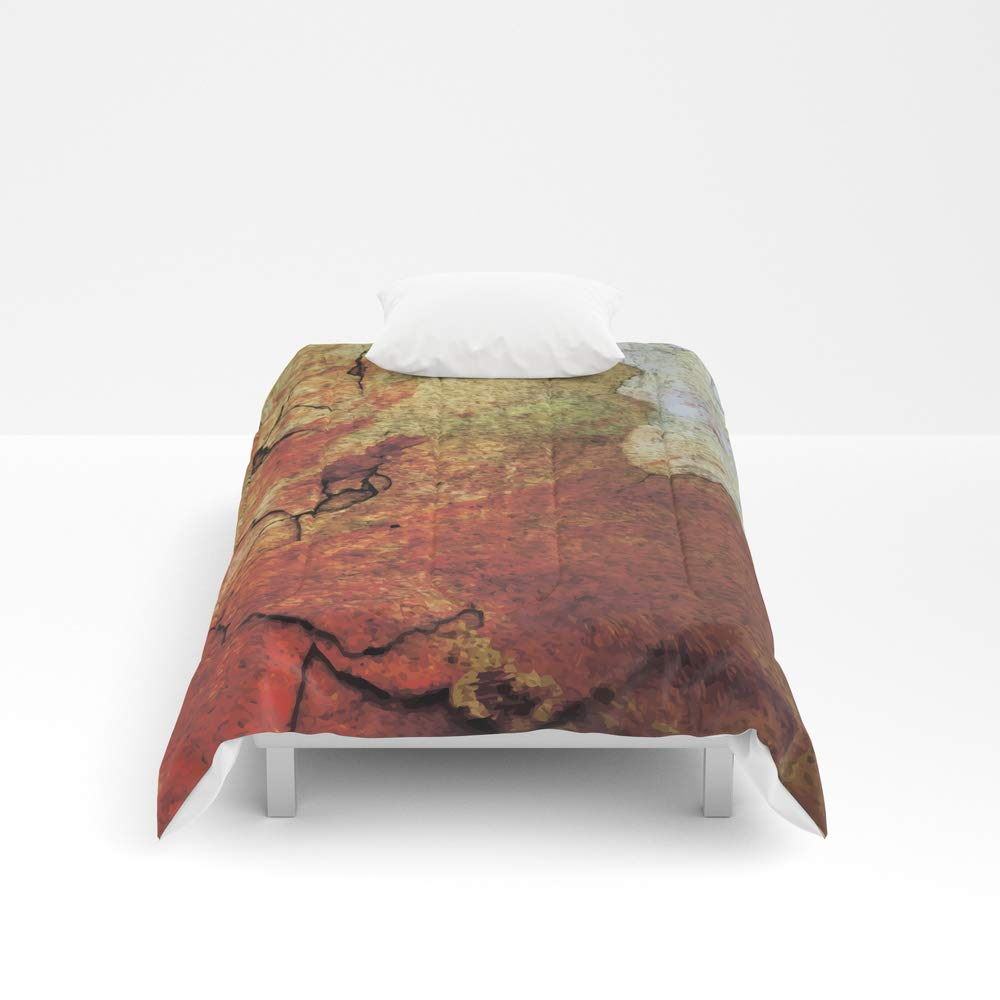 Society6 Comforter, Size Twin: 68'' x 88'', When The Wall got to Split by nessikk