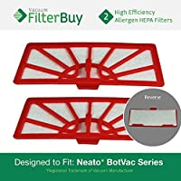 2- Neato XV Series Standard Filters, Part XV-11. Designed by FilterBuy to fit Neato XV Series Robot Vacuums.