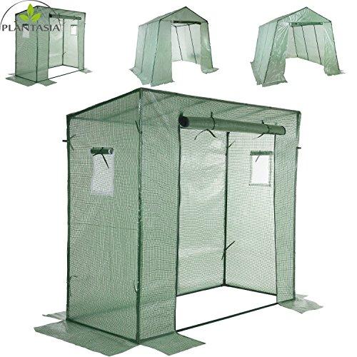 PLANTASIA® Foliengewächshaus Tomatenzelt mit extra langem Überhang, Größenauswahl, UV- und witterungsbeständig