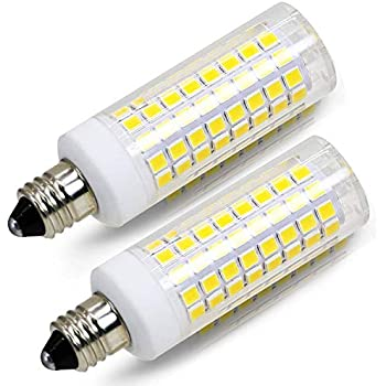 2 pack e11 led bulb 75w or 100w equivalent halogen replacement lights dimmable mini. Black Bedroom Furniture Sets. Home Design Ideas