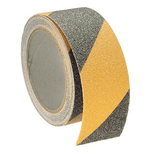 Yellow + Black 5m x 5cm Floor Safety Non Skid Tape Anti-slip Safe Self Adhesive Sticker High Grip