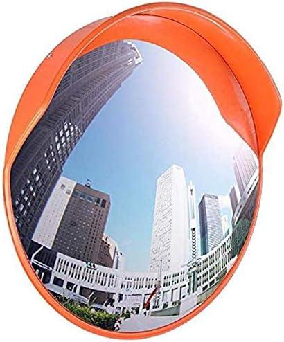 mirror Verkehr im Freien Weitwinkelobjektiv, Spiegel mit toten Winkeln Verkehrskonvexer großer runder Spiegel , Straßenkreuzung im Freien mit gewölbtem Weitwinkel-Oberflächendrehspiegel,45cm