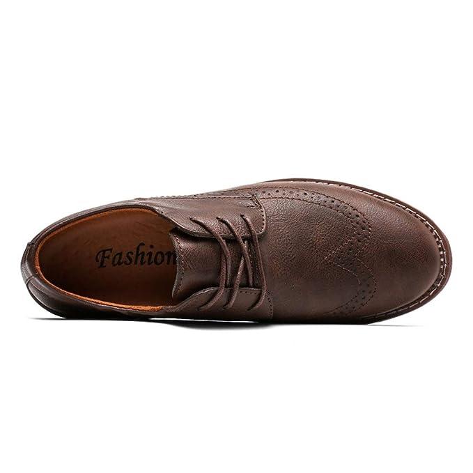 Apragaz Zapatos Brogue Antideslizantes para Hombre con Cordones ...
