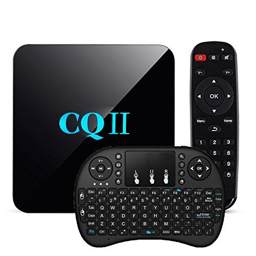 [Free Wireless Keyboard] TopYart Newset CQII Android 6.0 Amlogic S905X Quad Core 4K Ultra HD 1G RAM 8G ROM flash Smart TV Box + Wireless Keyboard by TopYart