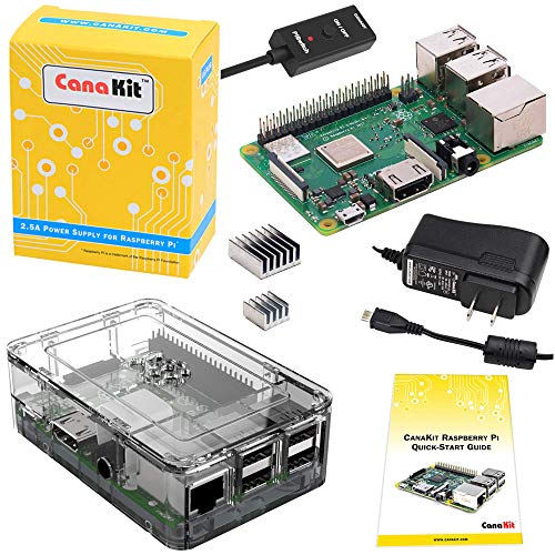 CanaKit Raspberry Pi 3 B+ (B Plus) with Premium Clear Case and 2.5A Power Supply -
