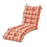 Greendale Home Fashions 72-inch Outdoor Chaise Lounge Cushion, Watermelon