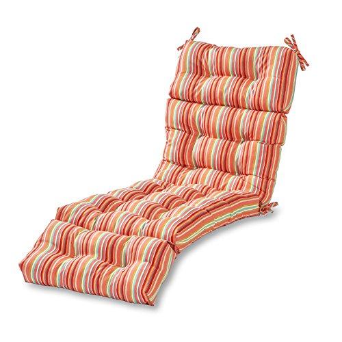 Greendale Home Fashions 72-inch Outdoor Chaise Lounge Cushion, Watermelon ()
