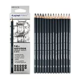 Drawing Pencils 14pcs/set 12B 10B 8B 7B 6B 5B 4B 3B 2B B HB 2H 4H 6H Graphite Sketching Pencils Professional Sketch Pencils Set for Drawing