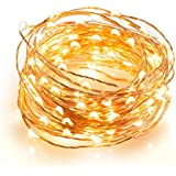 Dimmable Led String Lights, TaoTronics 100 Leds Twinkle lights 33 ft Copper Wire Lights for Indoor Outdoor, Christmas...