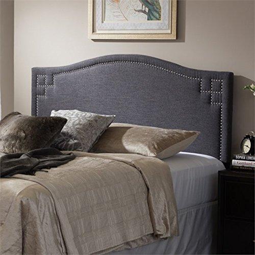 baxton studio aubrey upholstered king headboard in dark gray