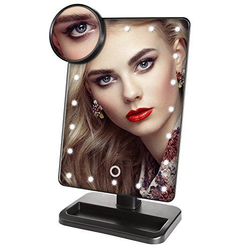 LuckyNV Magnifier LED Makeup Mirror Portable 20 LEDs Ligh...