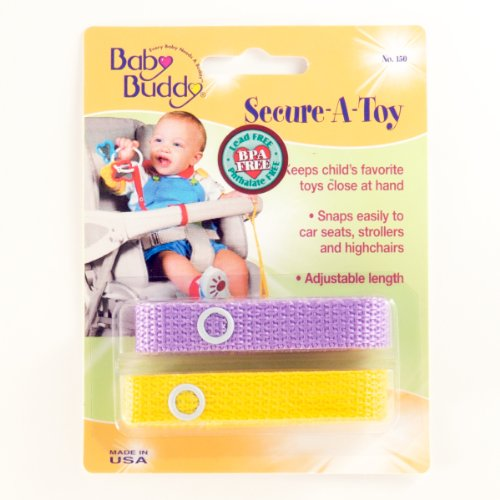 Baby Buddy Secure-A-Toy 2Ct Lilac-Yellow (Pack Of 24)