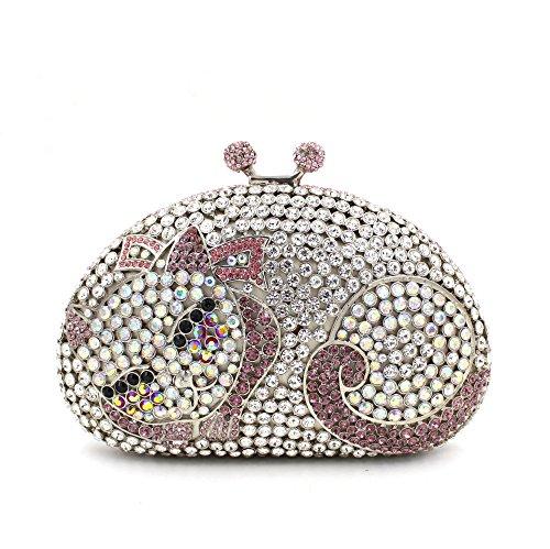 fête sac d'embrayage de luxe de sac Favorite E de à Mesdames strass Petit Chat main main soirée sac à mariage q7CwWA1WZ