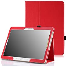 MoKo Samsung Galaxy Tab S 10.5 Case - Slim Folding Cover Case for Samsung Galaxy Tab S 10.5 Inch Android Tablet, RED (With Smart Cover Auto Wake / Sleep)