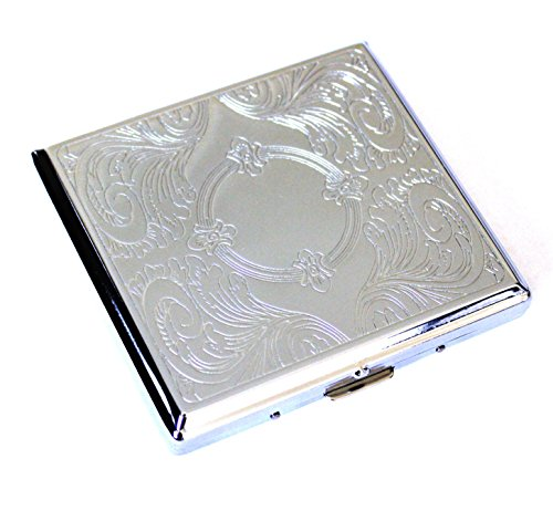Etched Cigarette Holder Cigarettes Silver product image