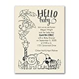 325pk Jungle Baby - Baby Shower Invitation - Ecru-Baby Shower Invitations