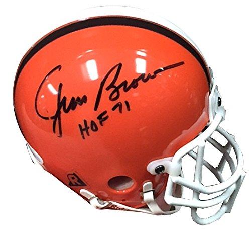 Jim Brown JSA Signed Inscribed Football Helmet-Mini ()