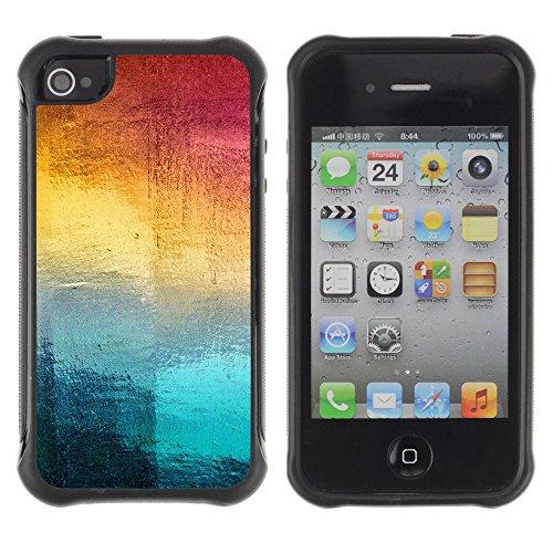 Apple Iphone 4 / 4S - Samsung Rainbow Art Window Ice Winter Pattern